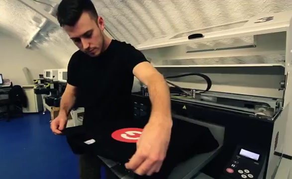 DTG - direct to garment printing technique